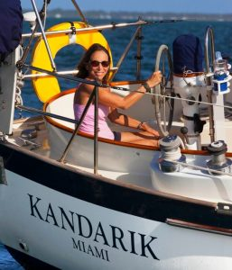 Pam Wall and husband Andy sailed the world aboard their self-built boats Carronade and Kadarik
