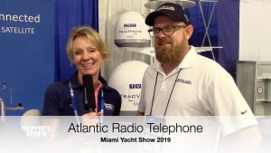 Atlantic radio telephoe talking to skipper's review at the Miami Yacht Sho