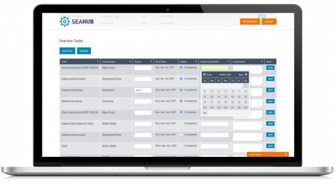 Seahub - Yacht Maintenance Software Manage overdue tasks easily