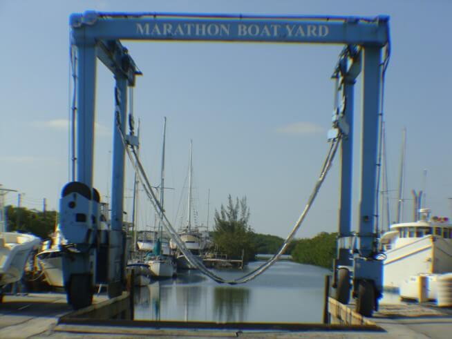 Marathon Boat Yard Marine Center 60-T Travellift