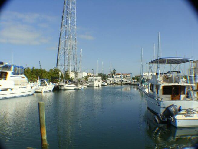 Marathon Boat Yard Marine Center Safe 8' deep canal, with direct access to Boot Key Harbor