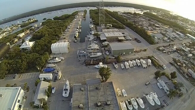 Marathon Boat Yard Marine Center Overview of the 12-acre Marine Center
