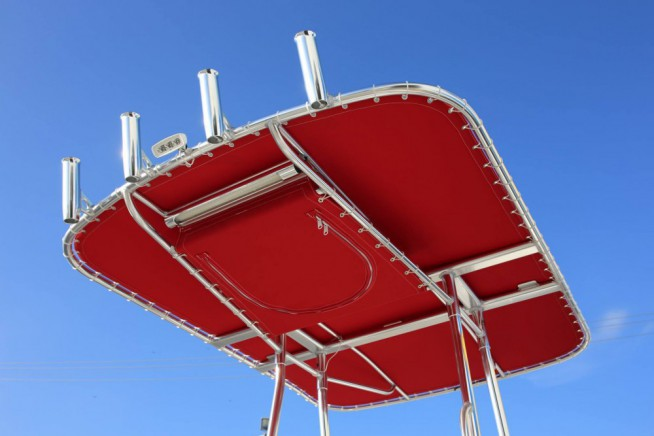 Birdsall Marine Design Underside picture of our Single Bow T-top
